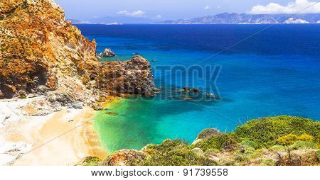 impressive landsacpes of Greece - Thiorichia beach on Milos island