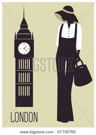 Fashion Woman In London
