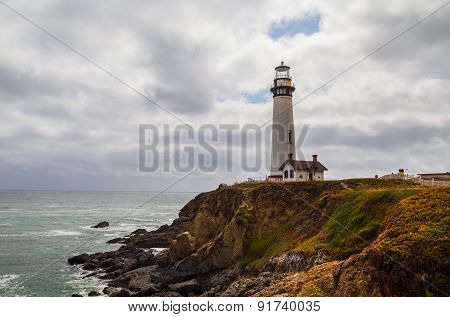Pigeon Point Lighthouse And The Ocean