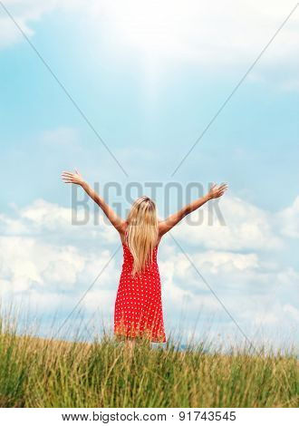 Young Happy Woman In A Summer Day