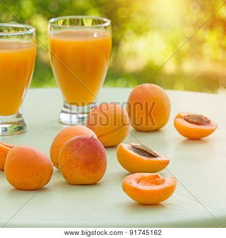 Apricot on table