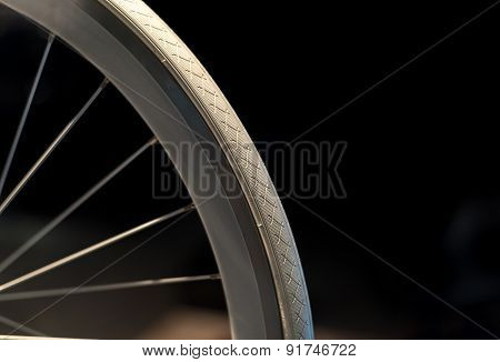White Bike Wheel