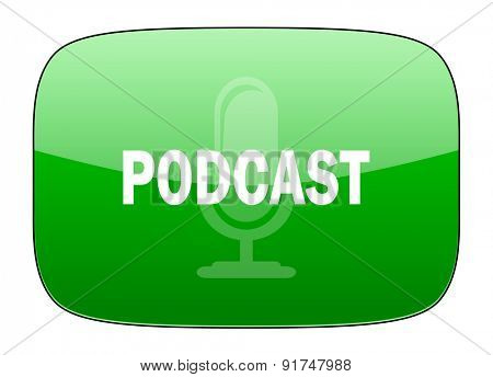 podcast green icon