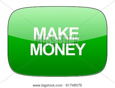 make money green icon