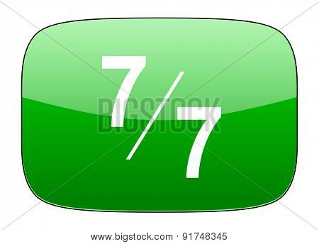 7 per 7 green icon