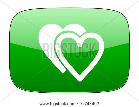 love green icon sign hearts symbol