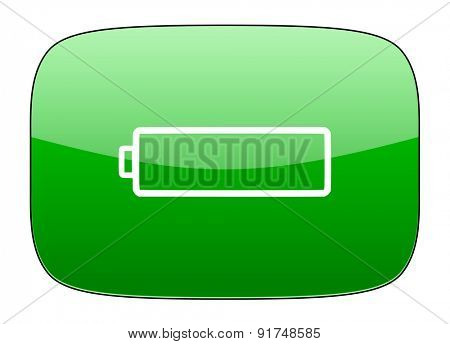 battery green icon charging symbol power sign