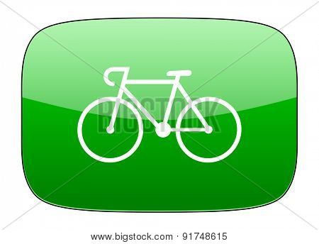 bicycle green icon bike sign