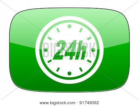 24h green icon