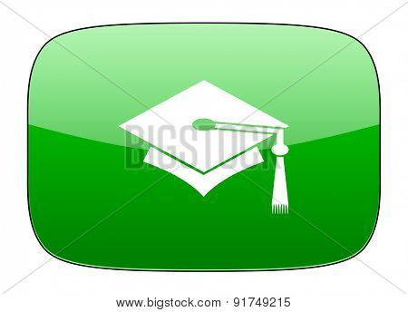 education green icon graduation sign
