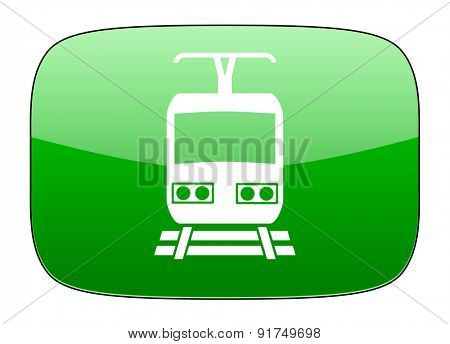 train green icon public transport sign