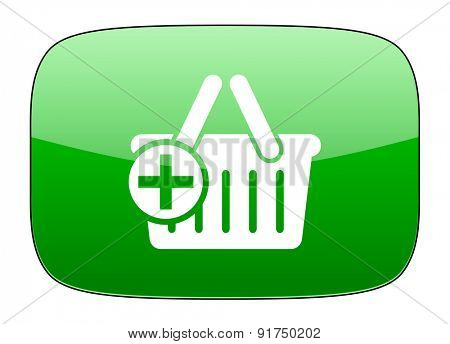 cart green icon shopping cart symbol