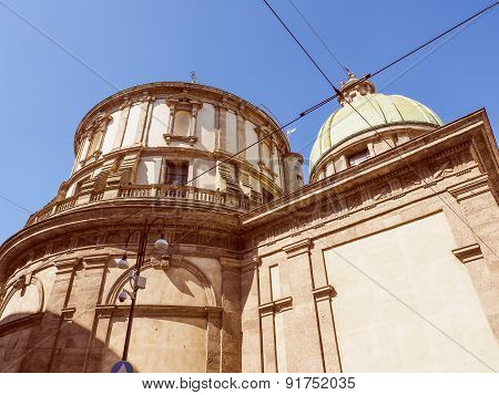 Retro Look Temple Of San Sebastiano