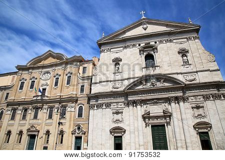 Santa Maria In Vallicella And Building Oratorians In Rome, Italy