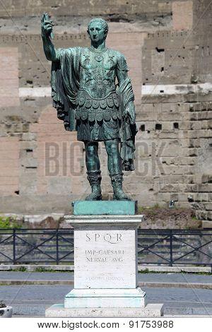 Statue Caesari Nervae Augustus, Rome, Italy