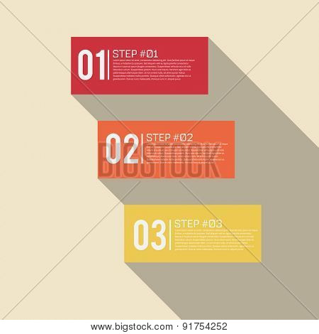 Step by Step Infographics Success Vector Design Template | EPS10 Editable Background