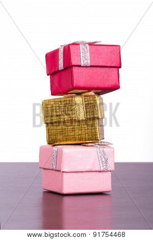 Three Colorful Gift Boxes