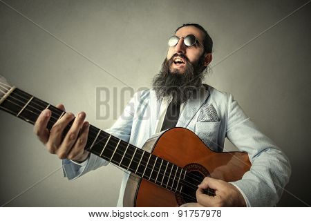 A weird guitarist
