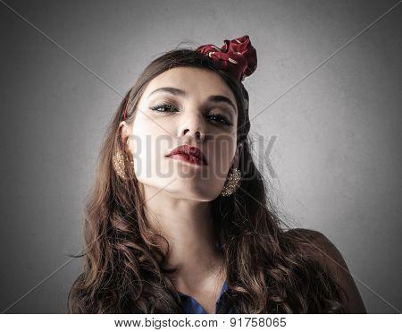 Self-confident woman