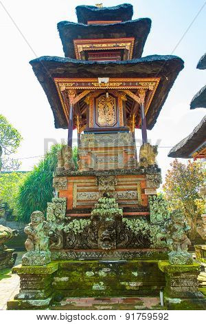 Baliness Style Temple In Bali Indonesia