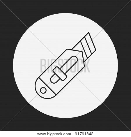 Utility Knife Line Icon