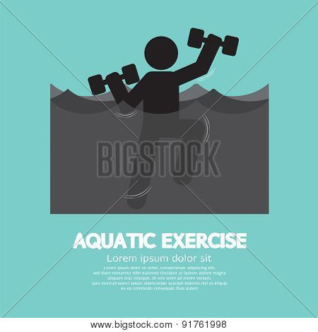 Black Symbol Aquatic Exercise.