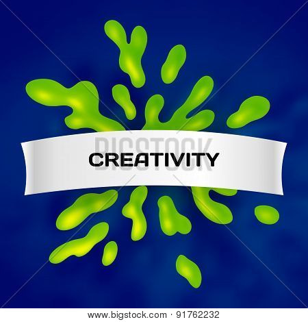 Abstract toxic vector color splash background paint fluid colorful ink splatters. Isolated creative