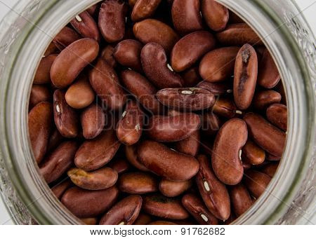 Dried Kidney Beans In A Jar