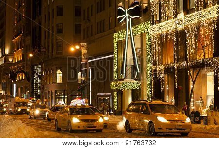 5Th Avenue During Winter Holidays