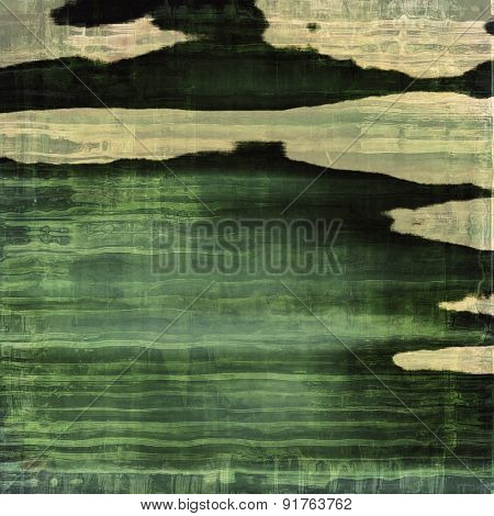 Old-style background, aging texture. With different color patterns: yellow (beige); brown; gray; green