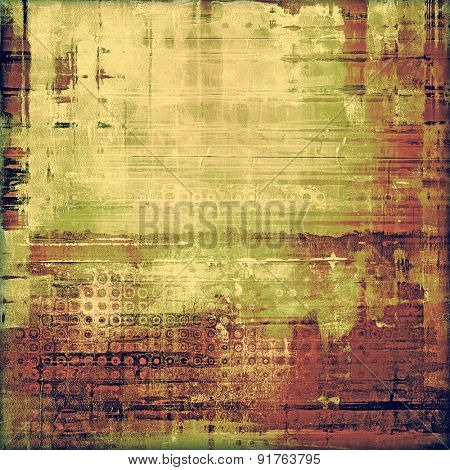 Old Texture or Background. With different color patterns: yellow (beige); brown; gray; green