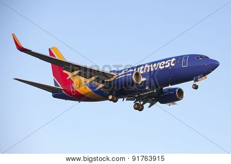 Southwest Airlines 737 Commercial Jet Airplane