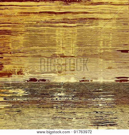 Background with grunge stains. With different color patterns: yellow (beige); brown; gray