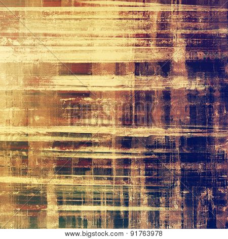 Old grunge textured background. With different color patterns: yellow (beige); brown; blue; purple (violet)