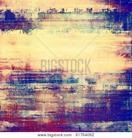 Rough grunge texture. With different color patterns: yellow (beige); blue; purple (violet); pink