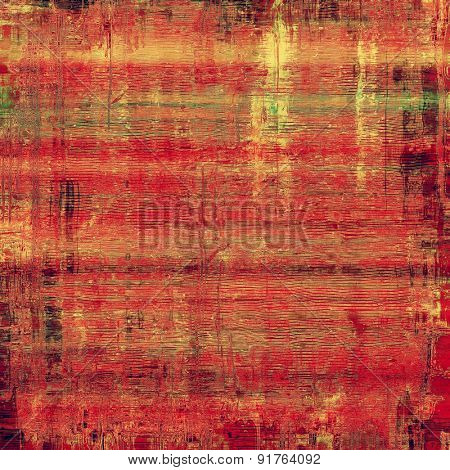 Old Texture. With different color patterns: yellow (beige); red (orange); green; pink