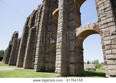 Pillars And Arches Of Merida Aqueduct