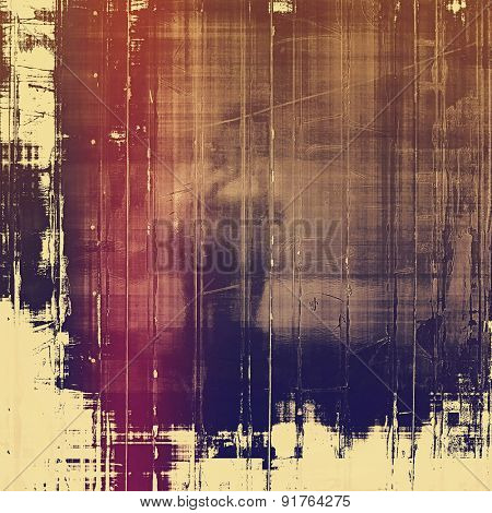 Old abstract grunge background, aged retro texture. With different color patterns: brown; blue; purple (violet); pink