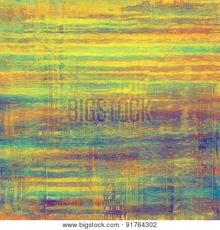 Old grunge textured background. With different color patterns: yellow (beige); blue; purple (violet); green