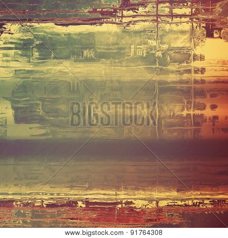 Grunge texture, may be used as background. With different color patterns: yellow (beige); brown; gray
