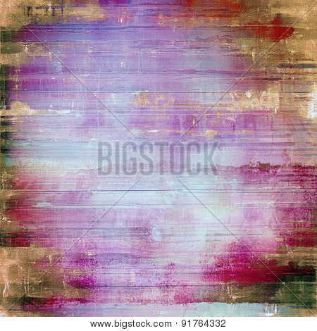 Old and weathered grunge texture. With different color patterns: brown; blue; purple (violet); pink