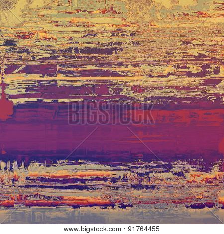 Beautiful vintage background. With different color patterns: yellow (beige); gray; purple (violet); pink