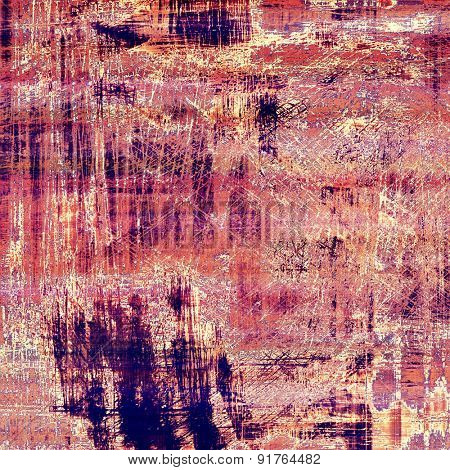 Old grunge antique texture. With different color patterns: brown; blue; purple (violet); pink
