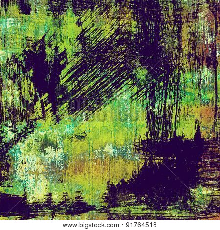 Old abstract grunge background, aged retro texture. With different color patterns: brown; blue; purple (violet); green