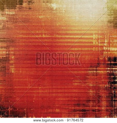 Old antique texture or background. With different color patterns: yellow (beige); brown; red (orange); black