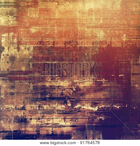 Old, grunge background texture. With different color patterns: yellow (beige); brown; red (orange); purple (violet)