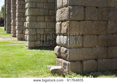 Granite Pillars Of Los Milagros Aqueduct
