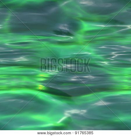 Seamless Green Water Background