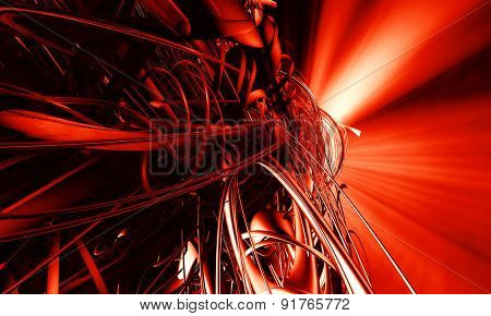 3D abstract background design
