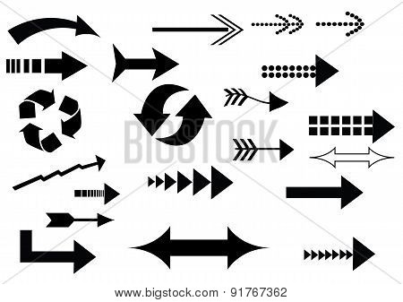 A Set Of Arrow Icons
